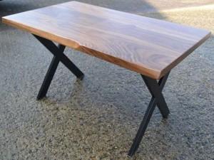 Meja-Kayu-Solid---X-Leg-Design