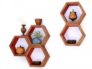 Rak-Dinding-Hexagonal