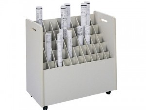 Mobile-Roll-File---50-Compartment-Model