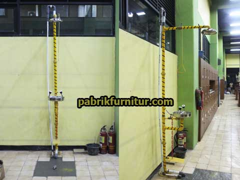 Floor Mounted Emergency Shower Drench + Eyewash